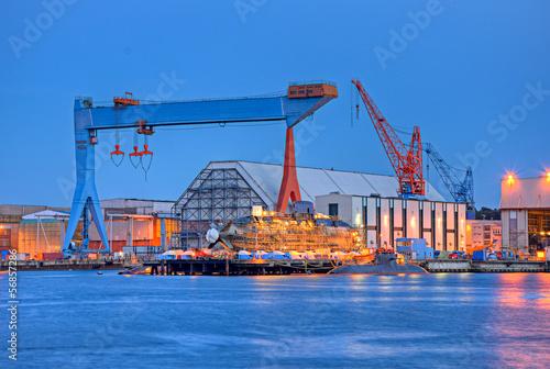 Stampa su Tela Werft in Kiel