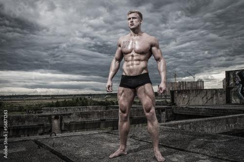 Fotografie, Obraz  Male bodybuilder