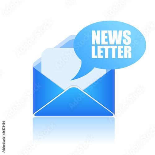 Fotografía  Vector newsletter symbol