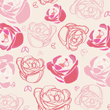 Seamless roses background vector
