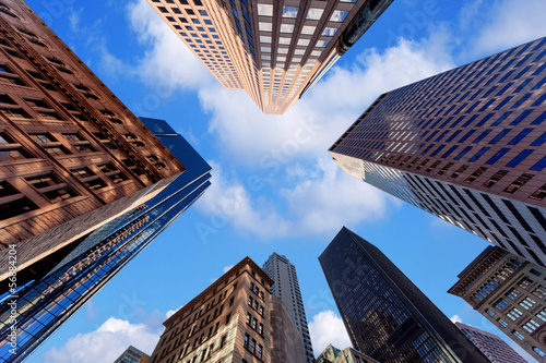 Canvas Print Skyscrapers in downtown
