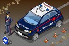 Isometric Italian Carabinieri ...