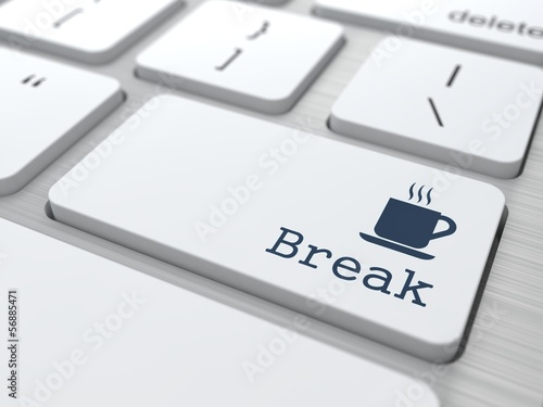 Fotografie, Obraz  Keyboard with Break Button.