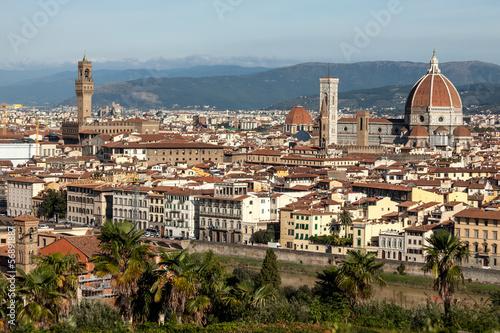 Fototapety, obrazy: Florence, Basilica Santa Maria Del Fiore And Signoria Square