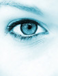 canvas print picture Blue eye vision