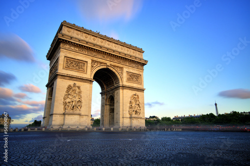 Foto op Plexiglas Parijs Arc de triomphe at Sunset, Paris