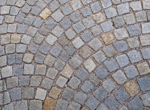 Stickers pour porte Cailloux Blocchi di sampietrini, strada lastricata