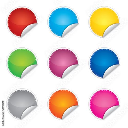 Obraz Cena, promocja lub bestseller etykieta, sticker, różne kolory - fototapety do salonu