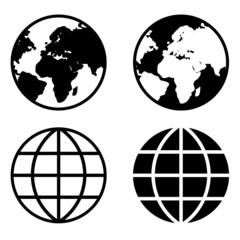 Fototapeta Globe Earth Icons