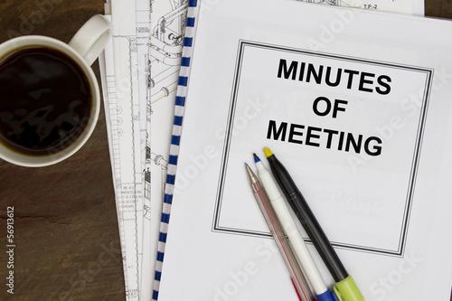 Fotografía  Minutes of meeting