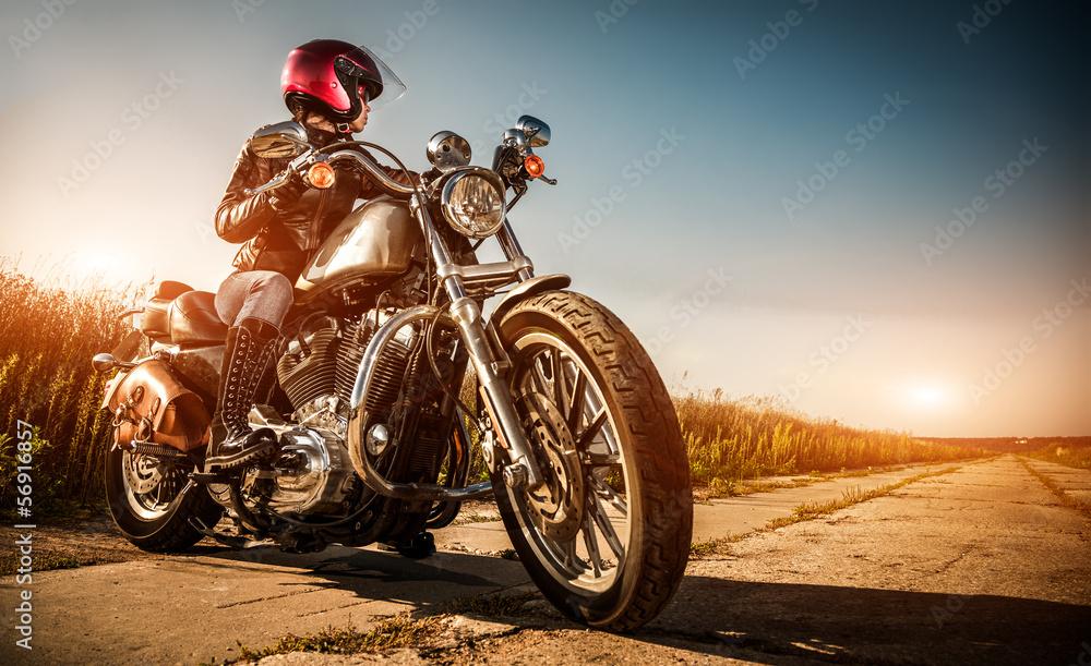 Fototapeta Biker girl