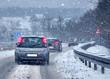 Winter Schneefall Schneematsch Wintereinbruch Straßenglätte