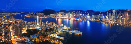 Photo  Hong Kong night view