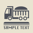Transportation icon or sign, vector illustration
