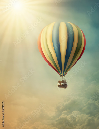 Ingelijste posters Ballon Hot air balloon