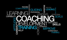 Coaching Development Training Words Tag Cloud Video Illustration