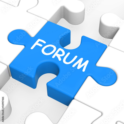 Fotografie, Obraz  Forum Puzzle Shows Online Community Chat And Advice