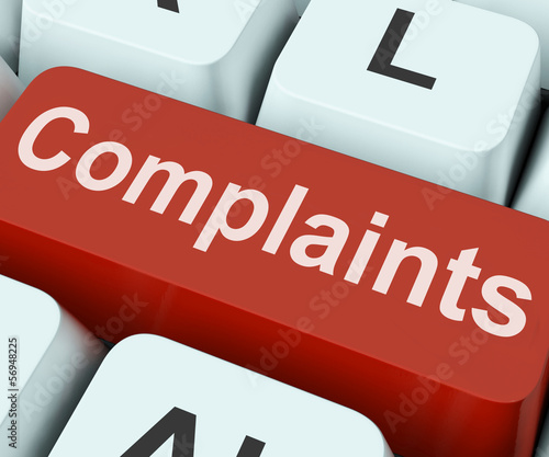 Complaints Key Shows Complaining Or Moaning Online By Stuart Miles