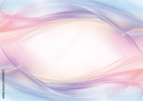 Staande foto Abstract wave Abstract pastel eye-shaped background - frame