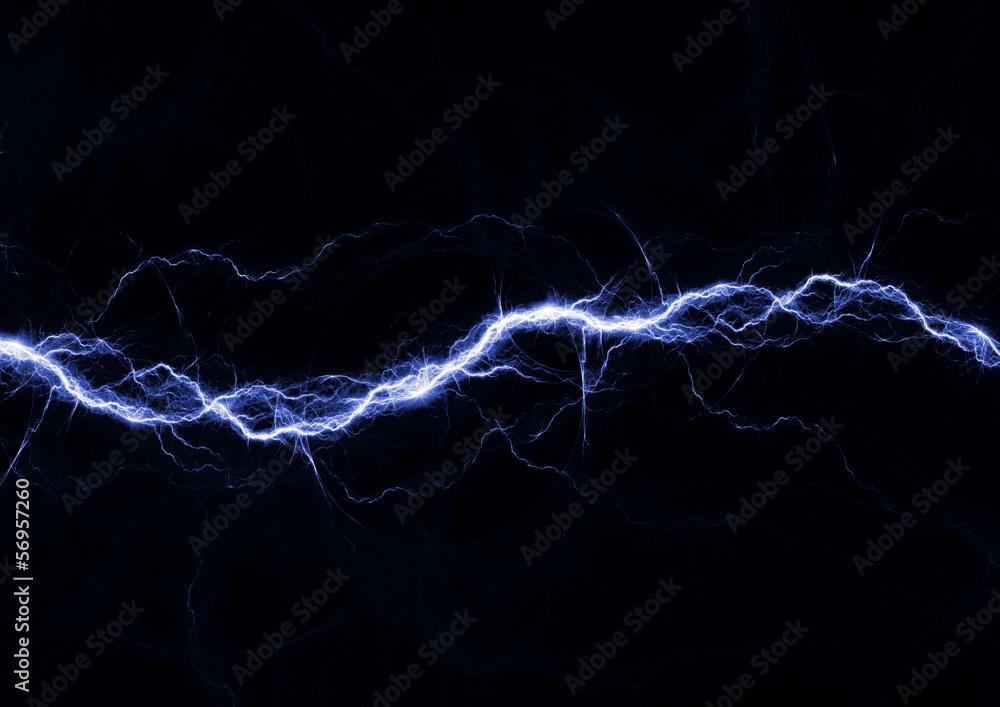 Fototapety, obrazy: Blue fantasy lightning