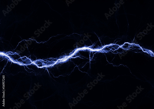Canvas Print Blue fantasy lightning