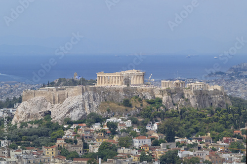 Fotobehang Athene Parthenon, Acropolis and Athens cityscape, Greece
