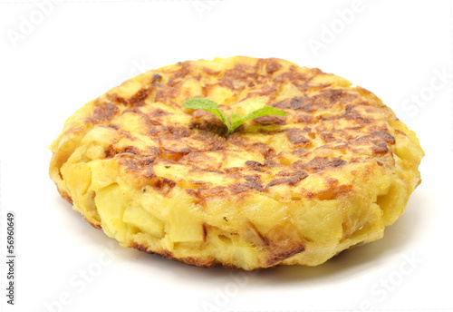 Fotografía  Spanish tortilla (omelet with potatoes and onions)