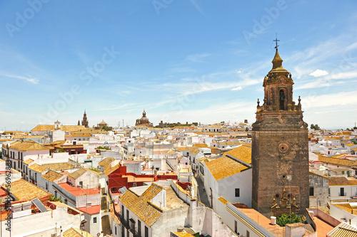 Panoramic view of Carmona, Spain Canvas Print