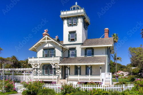 Canvas Prints Artistic monument Point Fermin Lighthouse