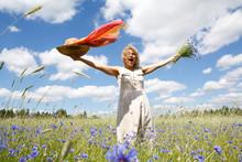 Women In Flower Field
