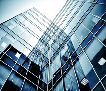 Abstract Glass Side Of Business Building