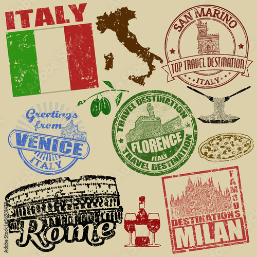 Photo  Stamps with Italy