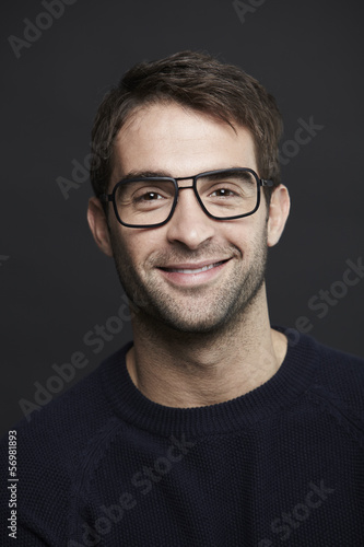 Fototapety, obrazy: Portrait of mid adult man in glasses, smiling