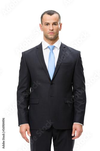Fotografía  Half-length portrait of serious looking businessman