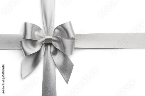 Fotografía  Silver ribbon bow