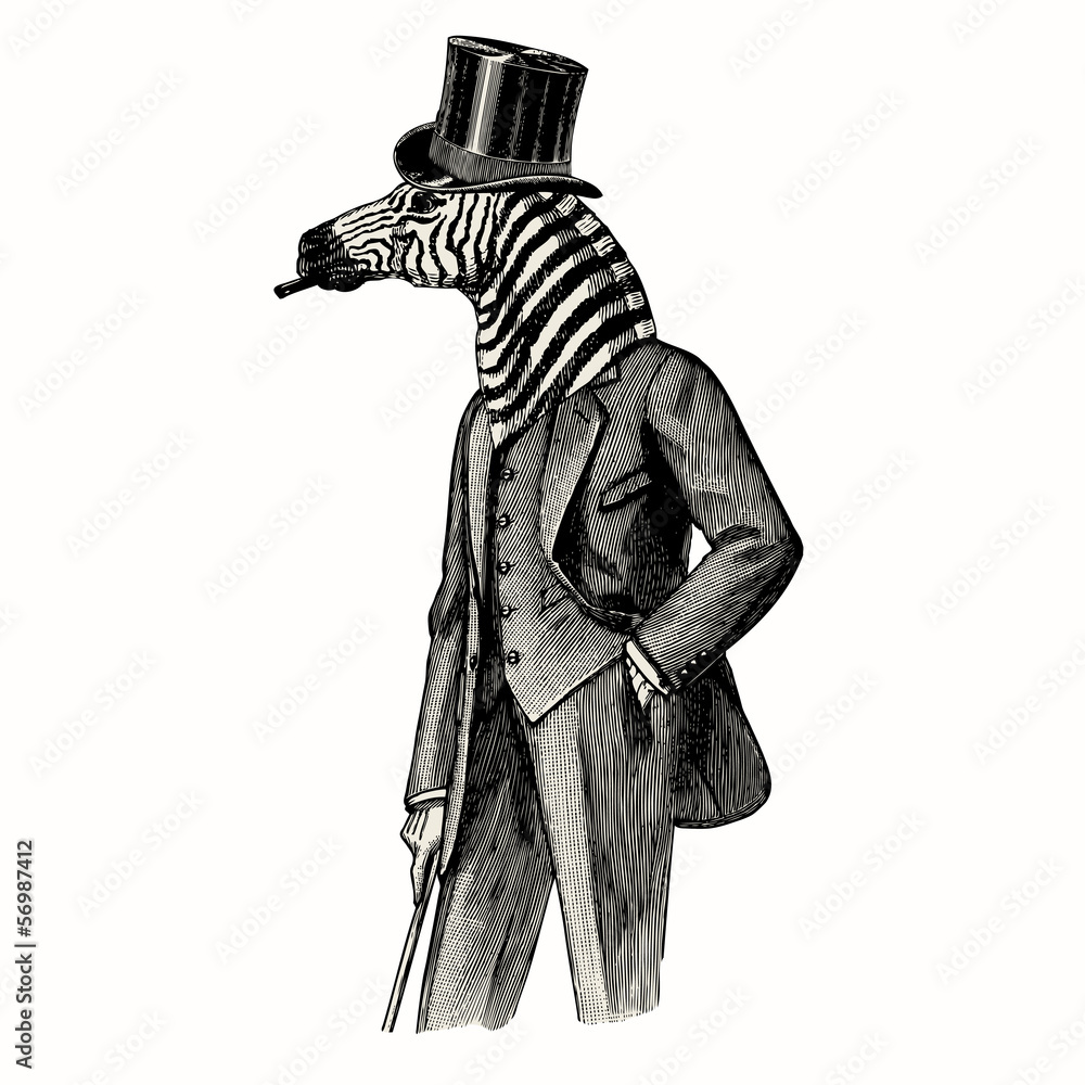 Fototapety, obrazy: Zebra man