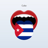 Cuba language. Abstract human tongue.
