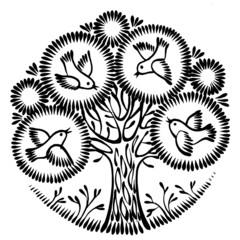 Fototapeta ornamental silhouette