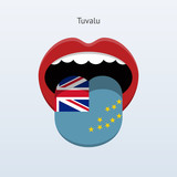 Tuvalu language. Abstract human tongue.