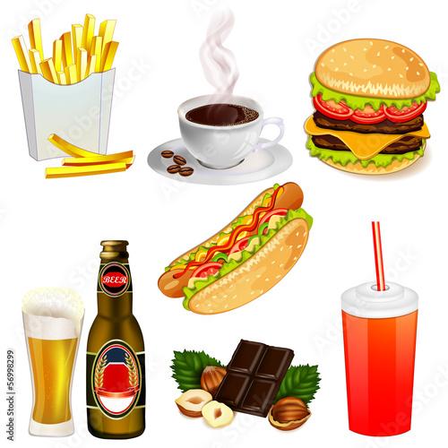 Set of fast food icons © analia26