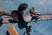 Boat Propeller Improvement Repair Tools And Gloves