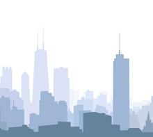 Chicago Morning Skyline - Vector