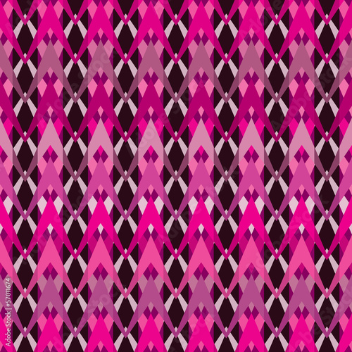 Canvas Prints ZigZag Bright seamless inlay of zigzags. Weave of polylines