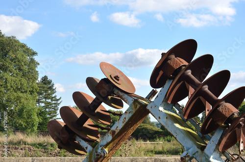 Fototapeta Old Rusty Plough detail