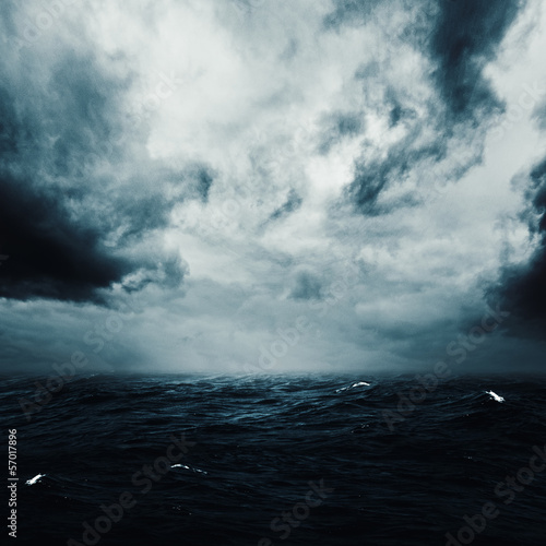 Photo sur Toile Tempete Stormy Night. Abstract grungy backgrounds for your design