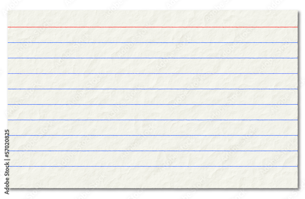 Fototapety, obrazy: Old index card isolated on a white background.