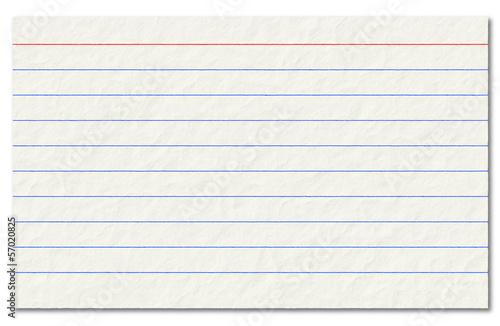 Fototapeta Old index card isolated on a white background. obraz