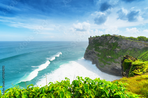 Foto op Aluminium Bali Coast at Uluwatu temple, Bali, Indonesia