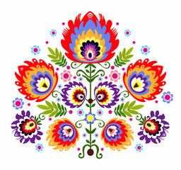 ludowy wzór - kwiaty