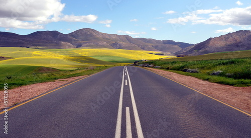 Papiers peints Afrique du Sud Endless Road Rural Landscape South Africa